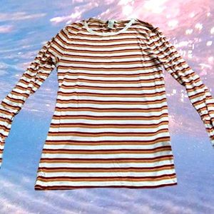 S striped long sleeve shirt from Forever 21